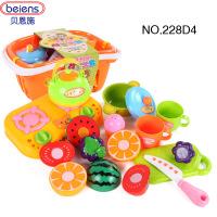 一号玩具 贝恩施 宝宝蔬菜水果切切乐过家家玩具儿童厨具厨房套装228D4