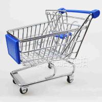 办公创意装饰品桌面摆件礼品送朋友 超市购物车模型迷你手推车