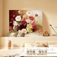 精准印花十字绣 幸福如花儿一样 油画卧室花草丝线新款牡丹花