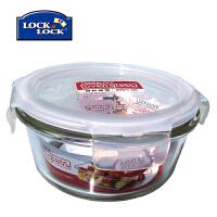 乐扣乐扣保鲜盒耐热玻璃圆形LLG821 380ml微波餐盒饭盒便当盒