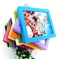 普润   木质礼品相框 平板实木相框 照片墙 8寸挂墙白色