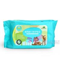 英国小树苗宝宝手口湿巾80片婴儿柔湿巾纸宝宝儿童湿纸巾