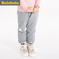 巴拉巴拉童装女童长裤小童宝宝裤子纯棉新款儿童棉裤 加厚保暖童裤