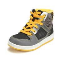 鞋柜SHOEBOX童鞋秋冬款黑色系带个性高帮休闲鞋男童鞋