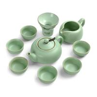 唐丰仿宋汝窑功夫茶具套装 整套开片陶瓷茶壶茶杯茶海礼盒包装