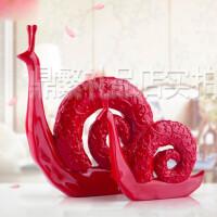 现代简约创意蜗牛摆件家居装饰品新房结婚礼物客厅摆设树脂工艺品