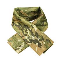 特种兵围巾户外透气围脖方巾丛林伪装军迷战术迷彩网巾