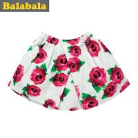 巴拉巴拉童装女童印花短裙中大童半身裙春秋裙子儿童秋装新款