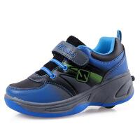 自动暴走男女中童轮滑鞋单轮儿童溜冰鞋休闲运动鞋