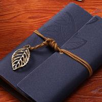 物有物语 牛皮本子 学生用品老师办公牛皮面活页本创意笔记本文具复古旅行随身牛皮纸记事本子 创意礼品