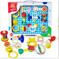 谷雨宝宝手摇铃组合 礼盒套装新生婴幼儿玩具0-1岁早教 益智玩具