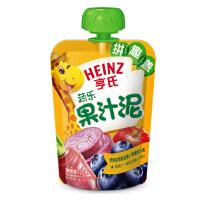 亨氏 乐维滋苹果蓝莓胡萝卜紫薯120g 蔬乐2 2 宝宝果汁泥特价折扣