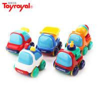 皇室惯性车儿童玩具车套装小汽车小孩工程车可爱迷你小车警车