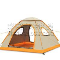 防雨透气户外3-4人钓鱼遮阳罩 庭院沙滩休闲帐篷 自动速开折叠帐篷 草地郊外旅行露营帐篷