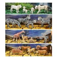 德国 思乐模型动物情景包老虎狮子鹿斑马礼盒 海豹海狮北极熊