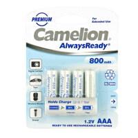 【当当自营】 Camelion 飞狮 AlwaysReady 储能型低自放7号镍氢充电电池 800毫安时 4节卡装
