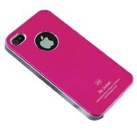 坚达 苹果iphone4 4S保护壳 TPU硬塑+金属表层渡漆硬保护壳 手机套 A4 保护套 PC银边 手机壳 保护套