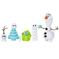 孩之宝 迪士尼冰雪奇缘生日惊喜系列雪宝人偶娃娃 女孩玩具礼物