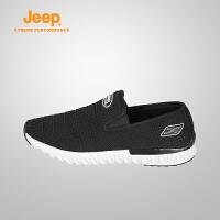 【满200减100】Jeep/吉普 2017春夏男士户外网布休闲徒步鞋J671038209