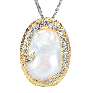 戴和美珠宝首饰吊坠 精选珍珠个性镶嵌吊坠