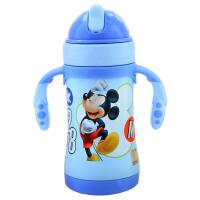 迪士尼(Disney)HM3141-M1幼童保温杯/不锈钢保温杯/3-6岁儿童水壶/吸管壶280ML蓝色 当当自营