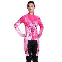 夏季女士休闲透气运动自行车骑行服长袖套装 骑行服套装 自行车服