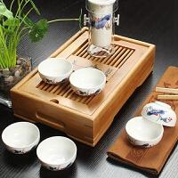 尚帝 整套陶瓷茶具套装 竹制茶盘 旅行茶具套装 便捷红茶茶具2014WHTZ4KK2