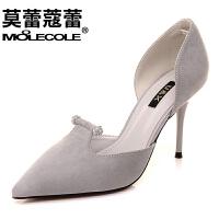 莫蕾蔻蕾   欧美女鞋尖头细跟高跟鞋女单鞋  6C116