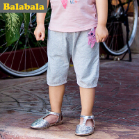 巴拉巴拉女童中裤五分裤小童宝宝童裤夏季童装儿童裤子女