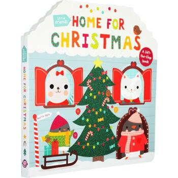 【英文原版】 little friends: home for christmas 纸板书造型翻翻书