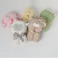 davebella戴维贝拉男女宝宝婴儿秋季新款可爱动物浴巾