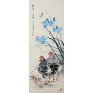 442 王雪涛 《双吉图》北京文物公司旧藏、原装裱满斑