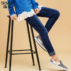 森马水洗牛仔裤 冬装 女士韩版中低腰休闲修身时尚牛仔长裤潮流女