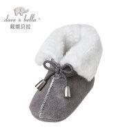 davebella戴维贝拉男女童秋冬保暖中筒靴子 宝宝鞋子28067