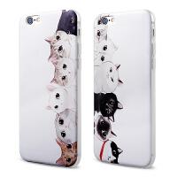 【全国包邮】hidog 苹果iPhone6手机壳猫咪4.7浮雕硅胶6plus个性保护套软5s薄
