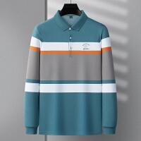伯克龙 男士夏季短袖T恤男装新款纯棉翻领Polo衫  青中年宽松纯色保罗衫 Z87601