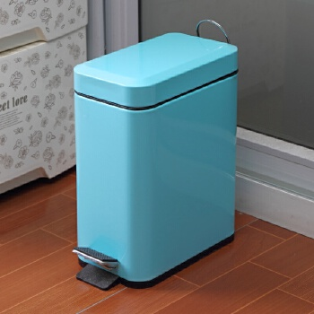 长方形垃圾桶蓝色