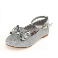 Shoebox鞋柜 荧光亮片蝴蝶结魔术贴时尚女童鞋皮鞋