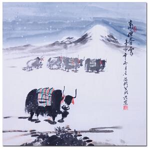 中美协理事 杜滋龄【高原春雪】Z3105