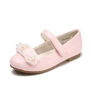 鞋柜女童春秋新款可爱毛茸茸珍珠透气单鞋