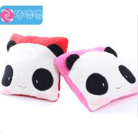 咔噜噜 方熊猫抱枕 情侣靠垫 午休枕 毛绒玩具   情人节礼物