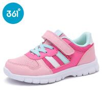 361度童鞋2017夏季新款正品女童运动鞋儿童网面透气跑鞋魔术贴