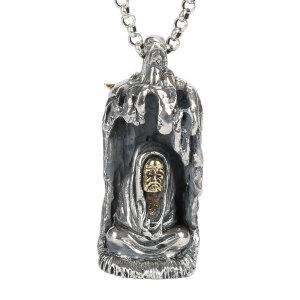 戴和美珠宝首饰吊坠 S925银吊坠达摩祖师吊坠项链