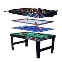 休闲健身体育运动桌上足球冰球乒乓球桌球SUM-4824-4K多功能4合1创意礼品桌球台