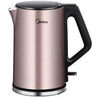 【当当自营】 Midea美的电水壶WHJ1510b 不锈钢电热水壶 烧水壶