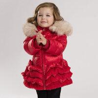 davebella戴维贝拉女童宝宝冬装新款加厚保暖90羽绒服
