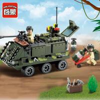 一号玩具 启蒙拼装积木玩具军事装甲车模型6-10岁儿童益智玩具军事系列814
