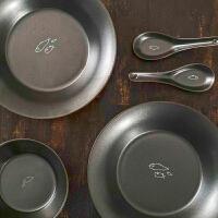 【如果出品】景德镇陶瓷餐具三件套日式碗盘汤勺组合套装家用简约