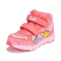 鞋柜冬款女童鞋时尚撞色纹路舒适保暖冬款运动鞋休闲童鞋