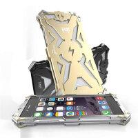 捷力源 苹果iPhone6/6S手机壳 4.7英寸 铝合金属边框后盖 硅胶内胆 防摔手机套 iPhone6/6S变形金刚保护套